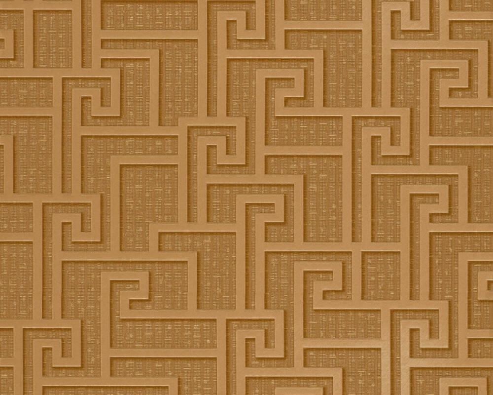 Versace Home Wallpaper Graphics Brown Gold Metallic Yellow