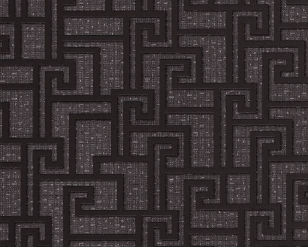 Versace Home Wallpaper Graphics Black Grey Metallic 962363