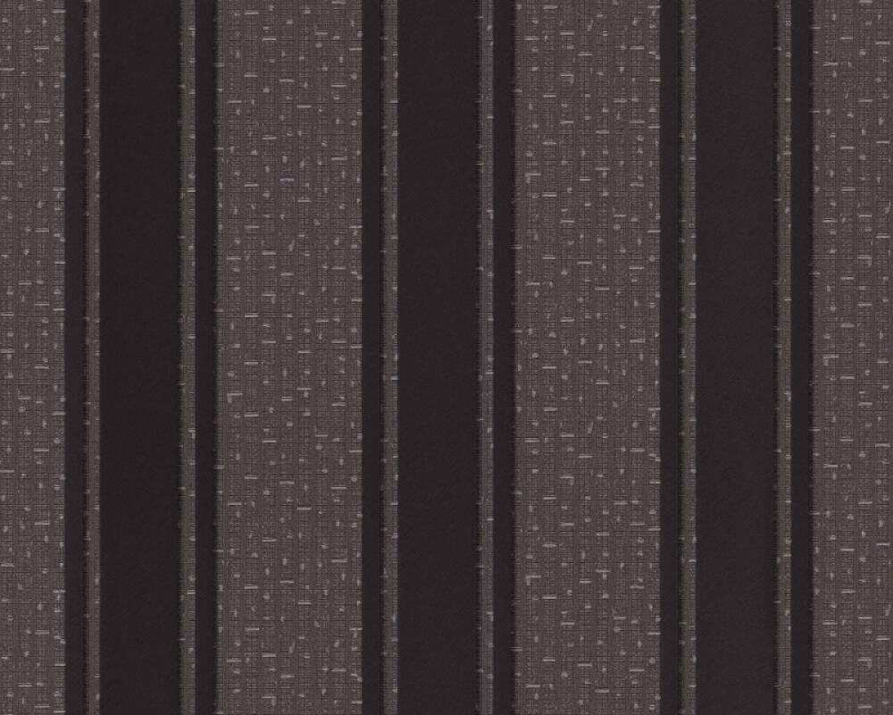Versace Home Wallpaper Stripes, Black, Grey, Metallic 962373