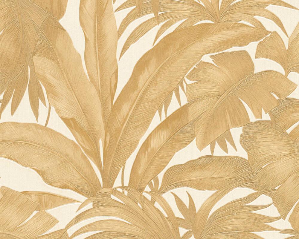 Versace Home Wallpaper Jungle Cream Gold Metallic 962404