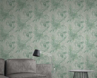A.S. Création Wallpaper «Floral, Green» 368202