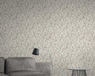 A.S. Création Wallpaper «Floral, Beige, Cream, White» 370442