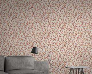 A.S. Création Wallpaper «Floral, Orange, Red, White» 370443