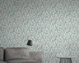 A.S. Création Wallpaper «Floral, Blue, White» 370444