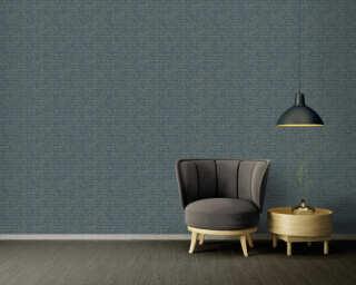 A.S. Création Wallpaper «Graphics, Floral, Blue, Gold, Metallic» 371731