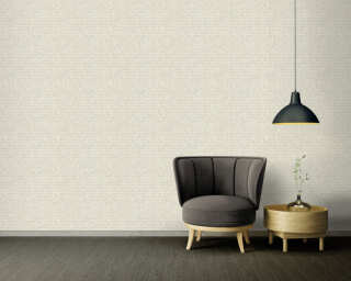 A.S. Création Wallpaper «Graphics, Floral, Beige, Cream, Grey, Silver» 371733