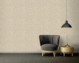 A.S. Création Wallpaper «Graphics, Floral, Beige, Blue, Gold, Grey» 371734