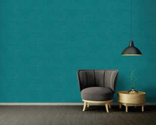 A.S. Création Wallpaper «Uni, Blue, Green» 371755