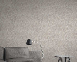A.S. Création Wallpaper «Floral, Beige, Cream, Grey, Taupe» 372102