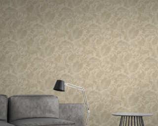 A.S. Création Wallpaper «Floral, Beige, Copper, Cream, Metallic» 372191