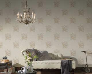 A.S. Création Wallpaper «Flowers, Beige, Cream» 372254