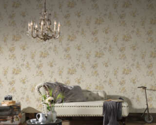 A.S. Création Wallpaper «Floral, Beige, Brown, Cream» 372262