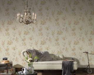 A.S. Création papier peint «Fleurs, beige, crème, marron» 372262