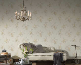 A.S. Création Wallpaper «Floral, Beige, Brown, Cream, Pink» 372338
