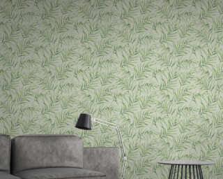 A.S. Création papier peint «Floral, vert» 373353