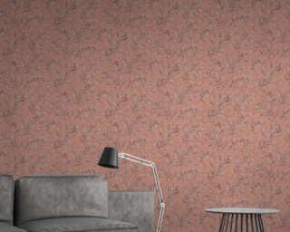 A.S. Création Wallpaper «Floral, Orange, Pink, Red» 373354