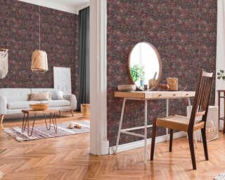 Livingwalls Wallpaper «Graphics, Brown, Copper, Metallic, Pink» 373913