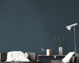 Livingwalls Wallpaper «Graphics, Blue, Brown, Green, Turquoise» 373941