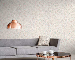 Livingwalls Wallpaper «Graphics, Blue, Pink, White» 373943