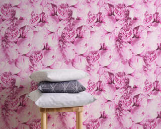 A.S. Création Wallpaper «Flowers, Pink» 373981