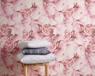 A.S. Création Wallpaper «Flowers, Pink» 373983