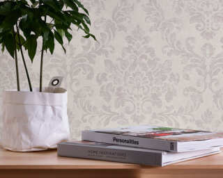 A.S. Création Wallpaper «Baroque, Grey, Pink, White» 374133