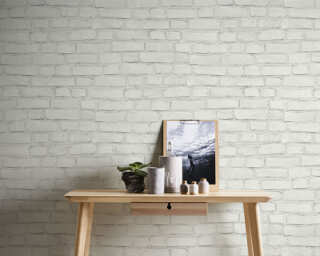 A.S. Création Wallpaper «Stone, Grey, White» 374142