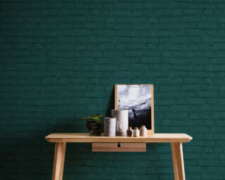 A.S. Création Wallpaper «Stone, Black, Green» 374145