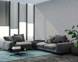 Livingwalls Wallpaper «Uni, Grey» 374182