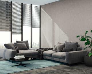 Livingwalls Wallpaper «Uni, Grey, White» 374183