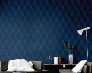 Livingwalls Wallpaper «Graphics, Black, Blue» 374191