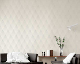 Livingwalls Wallpaper «Graphics, Grey, Metallic, Silver, White» 374192