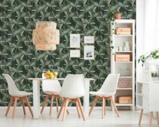 Private Walls Tapete «Floral, Grün, Schwarz» 375303