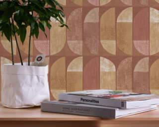 Private Walls Tapete «Grafik, Braun, Creme, Gelb, Orange» 375317