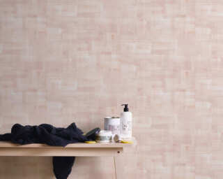 Private Walls papier peint «Uni, beige, rose» 375325