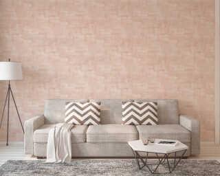 Private Walls Wallpaper «Uni, Beige, Pink» 375325