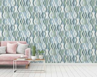 Private Walls Wallpaper «Graphics, Blue, Green» 375332