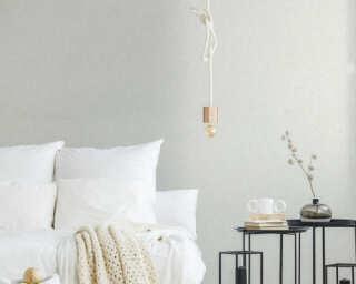 Private Walls Wallpaper «Uni, Grey, White» 375351
