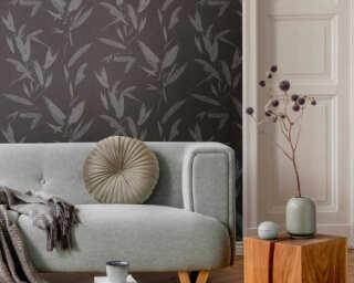 A.S. Création Tapete «Floral, Grau, Metallics, Schwarz, Silber» 375492