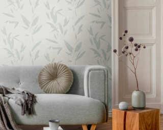 A.S. Création Tapete «Floral, Creme, Grau, Metallics, Silber» 375494