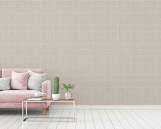 A.S. Création papier peint «Maison, Floral, beige, crème» 375514