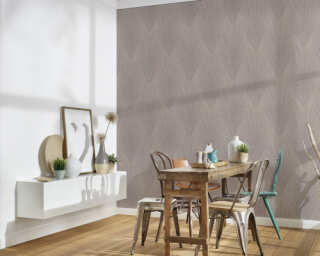 A.S. Création Wallpaper «Floral, Beige, Brown» 375531