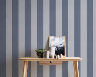 A.S. Création Wallpaper «Stripes, Floral, Grey» 375545