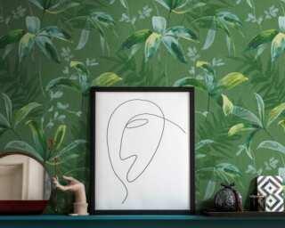 Architects Paper Vliestapete «Floral, Grün» 377042
