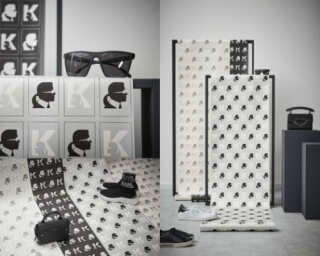 Karl Lagerfeld Wallpaper «Graphics, Black, Metallic, White» 378424