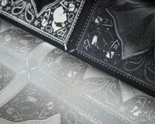 Karl Lagerfeld Wallpaper «Baroque, Grey, Metallic» 378455