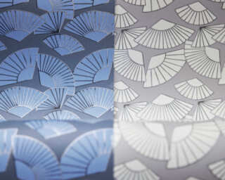 Karl Lagerfeld Wallpaper «Graphics, Grey, Metallic, White» 378471