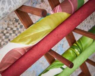 Livingwalls Wallpaper «Floral, Coloured, Cream, Green» 378621