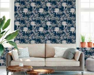 MICHALSKY LIVING Tapete «Floral, Blau» 379835