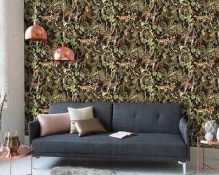 MICHALSKY LIVING Tapete «Floral, Bunt, Schwarz» 379901